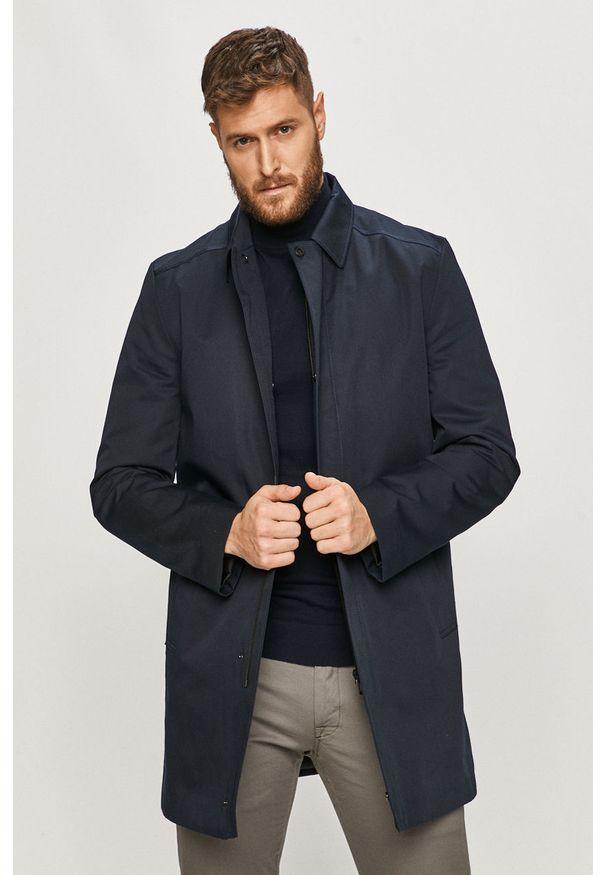 Niebieski płaszcz casualowy, na co dzień