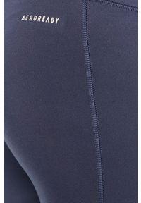 Niebieskie legginsy adidas Performance