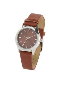 Brązowy zegarek bonprix analogowy