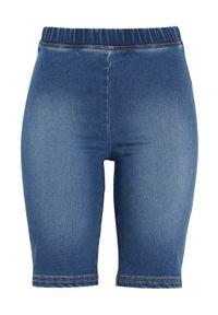 Cellbes Dżinsowe spodenki rowerowe denim female niebieski 62/64. Okazja: na co dzień. Kolor: niebieski. Materiał: denim. Styl: casual
