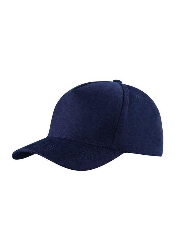 Niebieska czapka Janpol na lato, z haftami