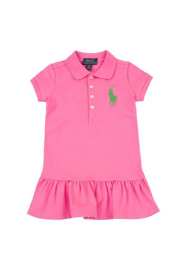 Różowa sukienka Polo Ralph Lauren na co dzień, prosta, casualowa