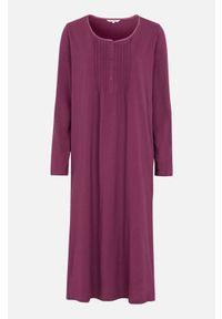 Cellbes Koszula nocna z długim rękawem śliwkowy female fioletowy 50/52. Kolor: fioletowy. Materiał: koronka. Długość: długie. Wzór: koronka