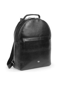 DAAG - Skórzany plecak damski Daag Jazzy Party 82 czarny. Kolor: czarny. Materiał: skóra. Wzór: aplikacja