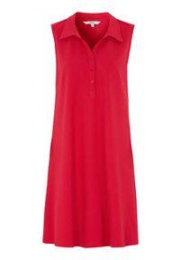 Cellbes Sukienka polo czerwony female czerwony 50/52. Typ kołnierza: polo. Kolor: czerwony. Materiał: jersey. Długość rękawa: bez rękawów