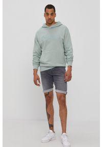 Cross Jeans - Bluza. Okazja: na co dzień. Kolor: zielony. Materiał: dzianina. Wzór: nadruk. Styl: casual