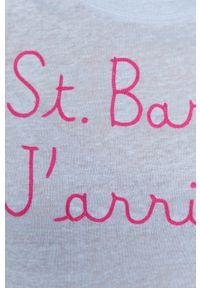 Mc2 Saint Barth - MC2 Saint Barth - T-shirt. Okazja: na co dzień. Kolor: niebieski. Wzór: aplikacja. Styl: casual