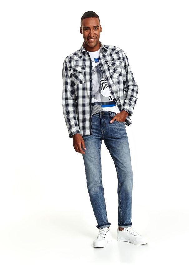 Niebieskie spodnie TOP SECRET na co dzień, na zimę