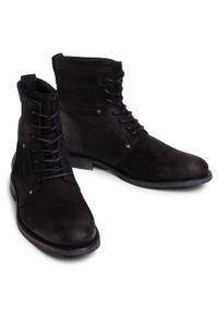 Czarne buty zimowe QUAZI z cholewką