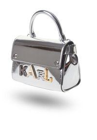 Karl Lagerfeld - TOREBKA KARL LAGERFELD. Wzór: aplikacja. Dodatki: z aplikacjami. Materiał: skórzane, lakierowane