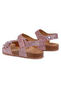 Różowe sandały Sergio Bardi Young na lato, z aplikacjami