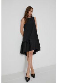Victoria Victoria Beckham - Sukienka. Kolor: czarny. Materiał: tkanina