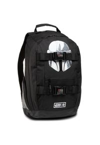 Czarny plecak Element z motywem z bajki