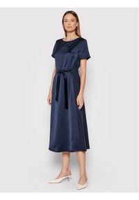 Weekend Max Mara Sukienka koktajlowa Giro 56260719 Granatowy Regular Fit. Kolor: niebieski. Styl: wizytowy