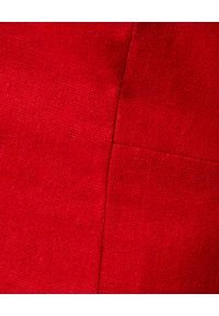 ICON - Czerwona sukienka z bufkami Tulipe. Okazja: na co dzień. Kolor: czerwony. Typ sukienki: dopasowane. Styl: casual. Długość: mini