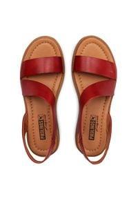 Czerwone sandały Pikolinos casualowe, na obcasie