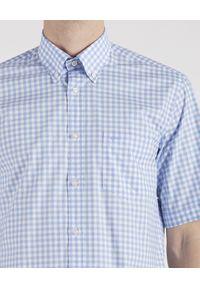 PAUL & SHARK - Koszula z krótkim rękawem w kratę. Kolor: biały. Materiał: bawełna. Długość rękawa: krótki rękaw. Długość: krótkie. Wzór: kratka. Styl: wakacyjny, elegancki