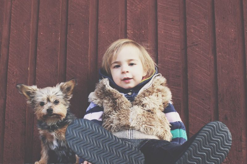 chłopiec ubrany na cebulkę