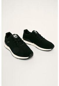 Czarne sneakersy GANT na sznurówki, z cholewką