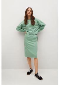 mango - Mango - Bluza bawełniana Clay. Kolor: zielony. Materiał: bawełna. Długość rękawa: długi rękaw. Długość: długie
