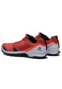 Pomarańczowe buty trekkingowe salomon trekkingowe