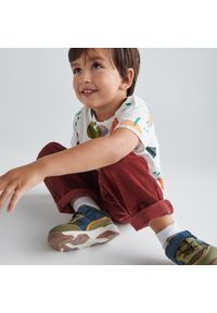 Reserved - Sneakersy z łączonych materiałów - Brązowy. Kolor: brązowy. Materiał: materiał