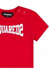 DSQUARED2 KIDS - Bawełniany t-shirt z nadrukiem logo 0-3 lata. Kolor: czerwony. Materiał: bawełna. Wzór: nadruk. Sezon: lato. Styl: klasyczny #3