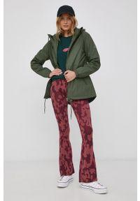 Volcom - T-shirt bawełniany. Okazja: na co dzień. Kolor: zielony. Materiał: bawełna. Wzór: nadruk. Styl: casual
