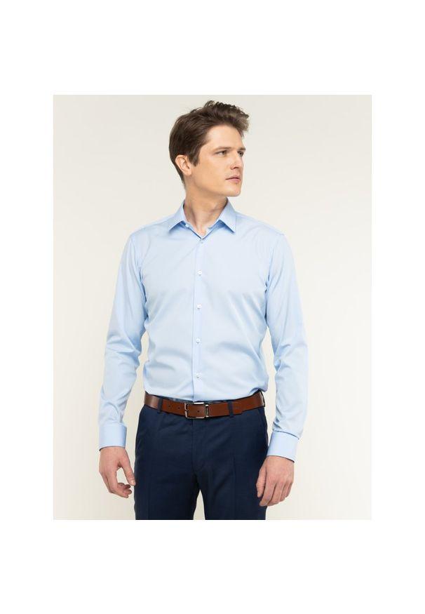Niebieska koszula casual BOSS