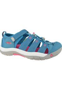 Niebieskie sandały keen w kolorowe wzory, sportowe