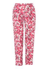 Soyaconcept Spodnie Sarika różowy we wzory female różowy/ze wzorem M (40). Stan: podwyższony. Kolor: różowy. Materiał: guma. Długość: do kostek