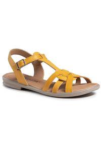 Żółte sandały Ricosta