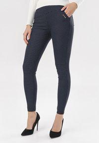 Niebieskie spodnie skinny Born2be