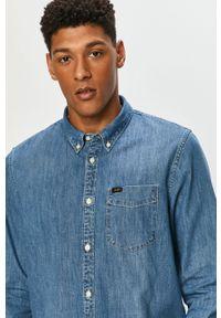 Lee - Koszula bawełniana. Typ kołnierza: button down. Kolor: niebieski. Materiał: bawełna. Długość rękawa: długi rękaw. Długość: długie