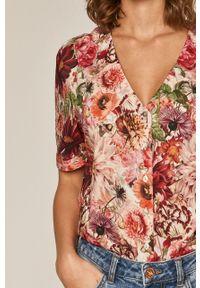 Koszula medicine z krótkim rękawem, w kwiaty