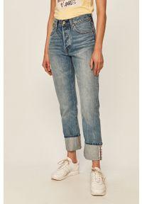 Niebieskie jeansy Levi's® biznesowe, na spotkanie biznesowe, w kolorowe wzory