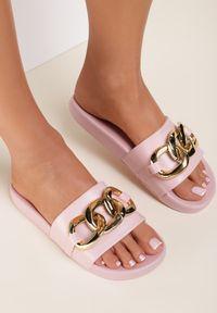 Renee - Różowe Klapki Cirikaia. Nosek buta: okrągły. Kolor: różowy. Materiał: materiał, guma. Styl: klasyczny