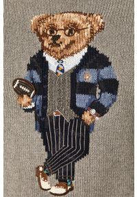 Szary sweter Polo Ralph Lauren z aplikacjami, polo
