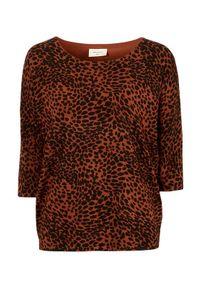 Freequent Bluzka w cętki Jone rdzawy we wzory female brązowy/pomarańczowy/ze wzorem S (38). Kolor: brązowy, wielokolorowy, pomarańczowy. Materiał: materiał