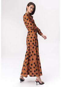 Sukienka Nife szmizjerki, w grochy, na spotkanie biznesowe