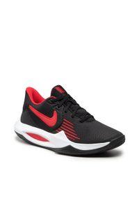 Nike - Buty NIKE - Precision V CW3403 004 Black/University Red/White. Kolor: czarny. Materiał: materiał