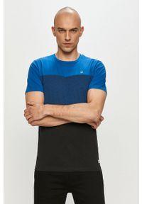 Czarny t-shirt PRODUKT by Jack & Jones na co dzień, gładki