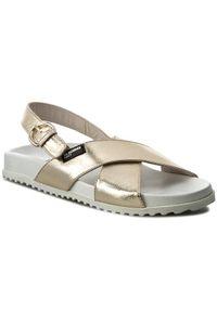 Złote sandały Jil Sander Navy