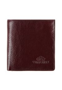 Wittchen - Damski portfel skórzany vintage. Kolor: czerwony. Materiał: skóra