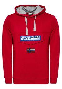 Napapijri Bluza Burgee Sum 3 NP0A4F9F Czerwony Regular Fit. Kolor: czerwony