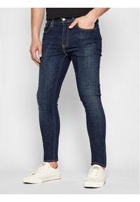 Levi's® Jeansy 84558-0019 Granatowy Skinny Fit. Kolor: niebieski