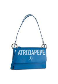 Niebieska torebka klasyczna Patrizia Pepe klasyczna