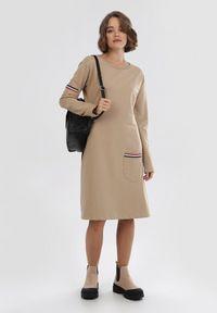 Beżowa sukienka Born2be #6