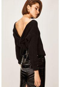 Czarny sweter ANSWEAR casualowy, na co dzień