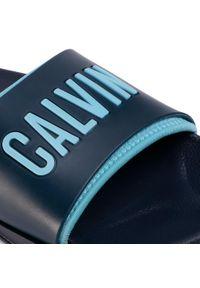 Niebieskie klapki Calvin Klein Swimwear casualowe, na co dzień